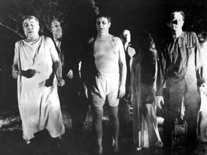 "Zombies from the movie ""Night of the Living Dead"" (1968), source:  Wikimedia Commons"